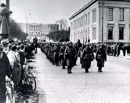 German soldiers in Oslo 9 April 1940