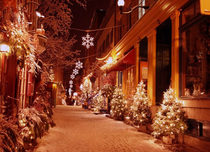 christmas decoration outdoor christmas street