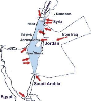 midtøsten kart konflikter